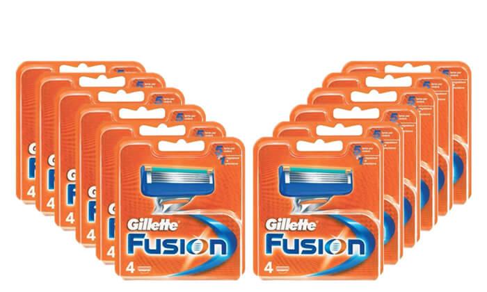 2 מארז חסכון 40 סכיני גילוח Gillette Fusion ג'ילט