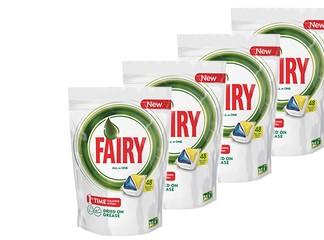4 מארזי טבליות למדיח Fairy