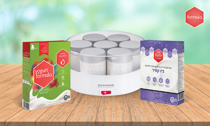 4 מכשיר חשמלי ביתי וערכות תרבית לקטיתלהכנת יוגורט SEVERIN