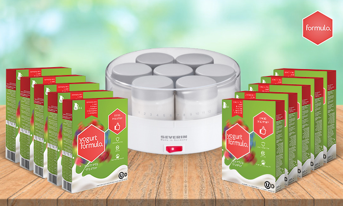 5 מכשיר חשמלי ביתי וערכות תרבית לקטיתלהכנת יוגורט SEVERIN