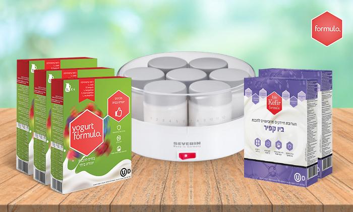 8 מכשיר חשמלי ביתי וערכות תרבית לקטיתלהכנת יוגורט SEVERIN