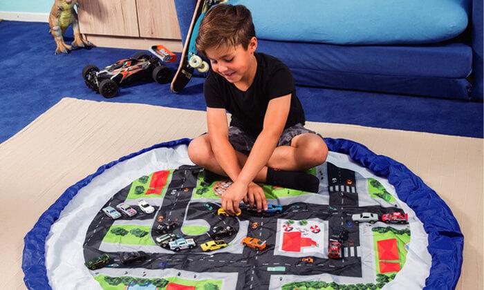3 משטח משחק המתקפל לשק צעצועים