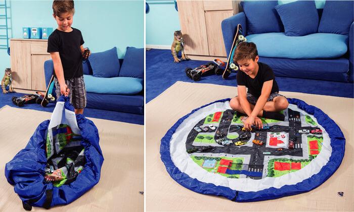 2 משטח משחק המתקפל לשק צעצועים