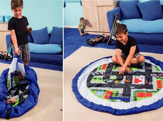 משטח משחק המתקפל לשק צעצועים