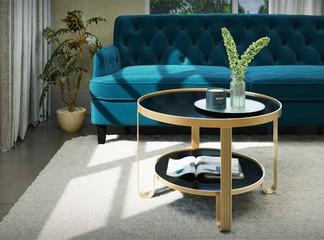 שולחן עגול לסלון דגם רגואן