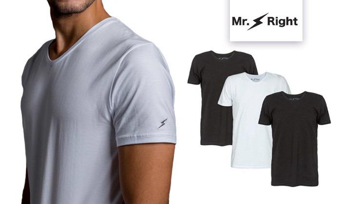 2 מארז 3 חולצות טי שירט לגברים Mr. Right