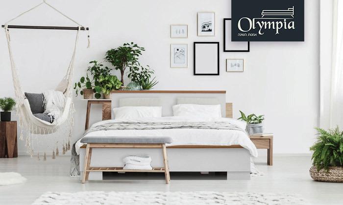 2 מיטה עם מזרן אולימפיה