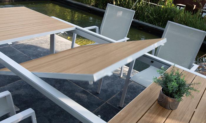 3 פינת אוכל שולחן וכיסאות לחצר SCAB