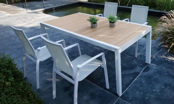 5 פינת אוכל שולחן וכיסאות לחצר SCAB