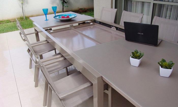 4 פינת אוכל שולחן וכיסאות לחצר SCAB
