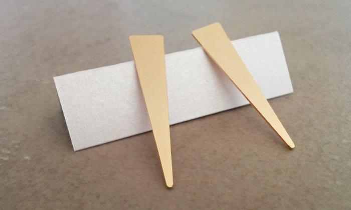 2 עגילי משולש ארוך