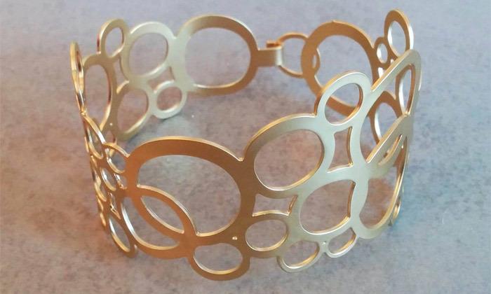 3 צמיד זהב עיגולים