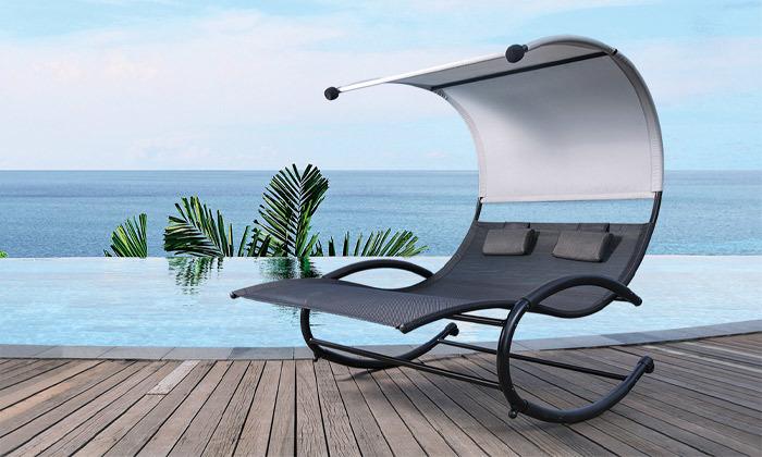 2 כיסא נדנדה זוגיומפנק לגינה