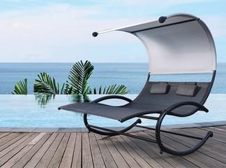 כיסא נדנדה זוגיומפנק לגינה
