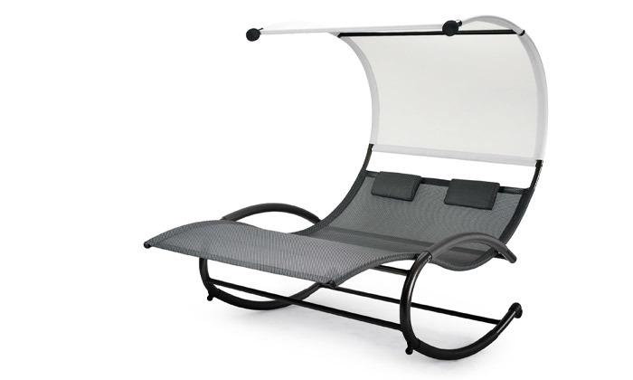 3 כיסא נדנדה זוגיומפנק לגינה