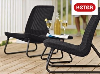 זוג כסאות עם שולחן דגם ריו