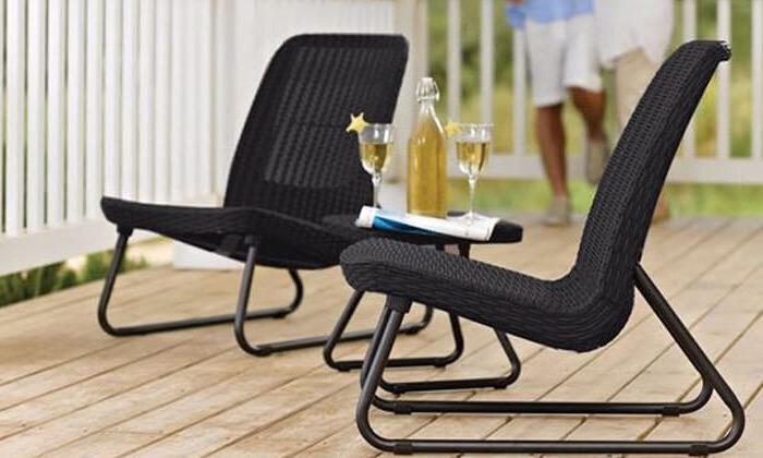 6 זוג כיסאות עם שולחן של כתר