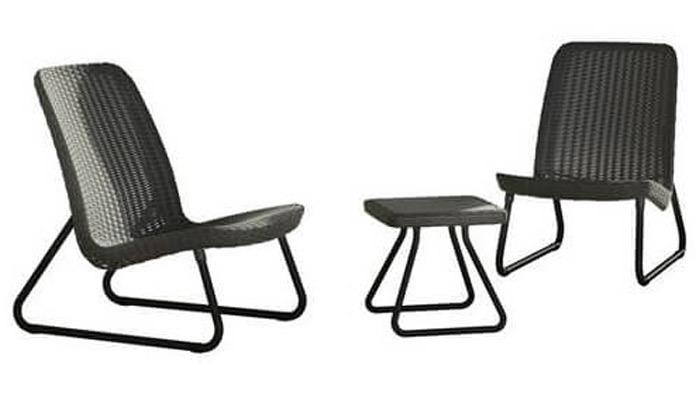 4 זוג כיסאות עם שולחן של כתר