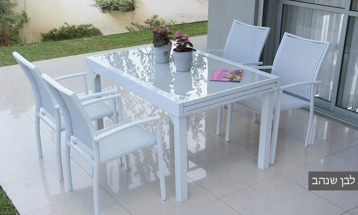4 פינת אוכל לחצר עם שולחן נפתח ו-4-8 כיסאות SCAB, משלוח חינם