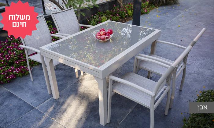 3 פינת אוכל לחצר עם שולחן נפתח ו-4-8 כיסאות SCAB, משלוח חינם