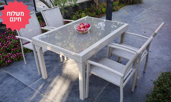 6 פינת אוכל לחצר עם שולחן נפתח ו-4-8 כיסאות SCAB, משלוח חינם