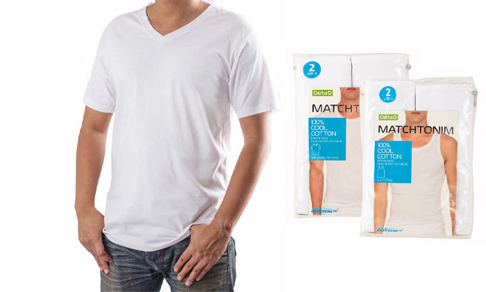 2 מארז 4 חולצות טי-שירט לגברים Delta