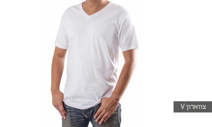 5 מארז 4 חולצות טי-שירט לגברים Delta
