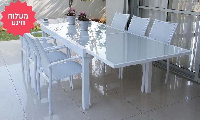 6 שולחן נפתח עם 4/6/8 כיסאות לחצר של  SCAB, משלוח חינם