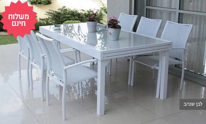 3 שולחן נפתח עם 4/6/8 כיסאות לחצר של  SCAB, משלוח חינם