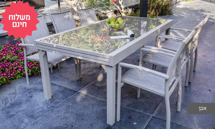 4 שולחן נפתח עם 4/6/8 כיסאות לחצר של  SCAB, משלוח חינם