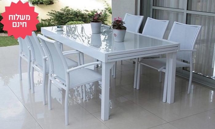 7 שולחן נפתח עם 4/6/8 כיסאות לחצר של  SCAB, משלוח חינם