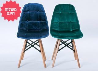 כיסא בריפוד דמוי קטיפה דגם 301