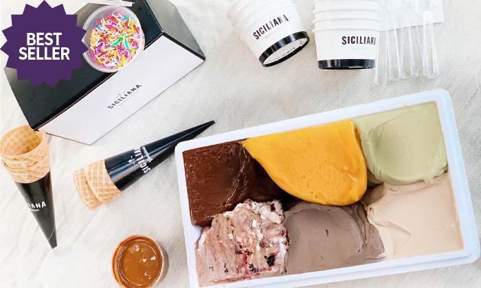 7 גלידה במשקל ב-Take Away מהסיציליאנית, תל אביב והרצליה