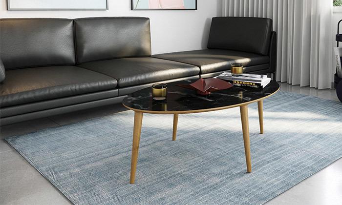 2 שולחן סלון אובלי