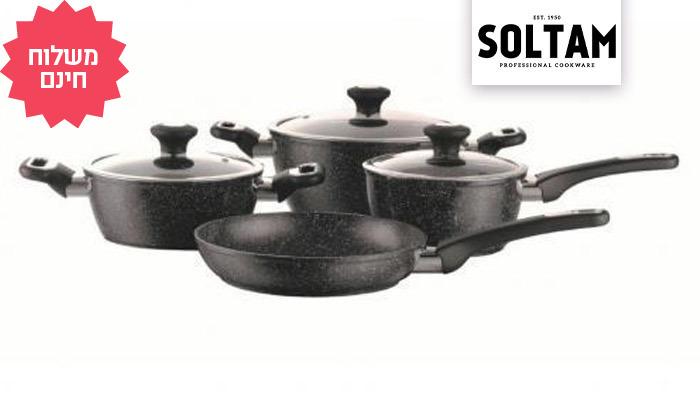 2 סט סירים ומחבתות 7 חלקים של סולתם SOLTAM, משלוח חינם