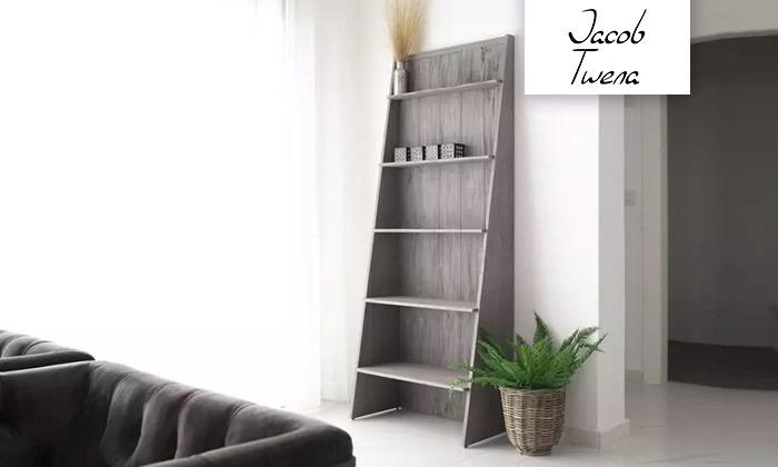 2 כוננית ספרים בצורת סולם