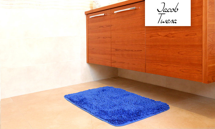2 3 שטיחי אמבט שאגי במגוון צבעים