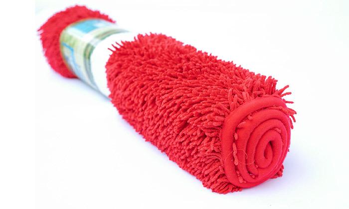 3 3 שטיחי אמבט שאגי במגוון צבעים
