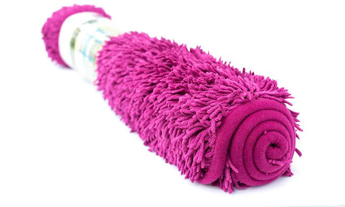 4 3 שטיחי אמבט שאגי במגוון צבעים