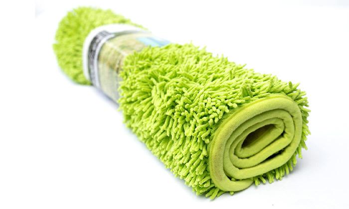 5 3 שטיחי אמבט שאגי במגוון צבעים