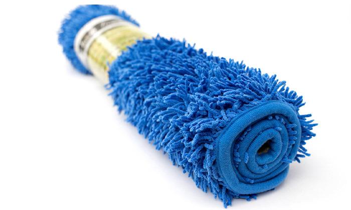 6 3 שטיחי אמבט שאגי במגוון צבעים