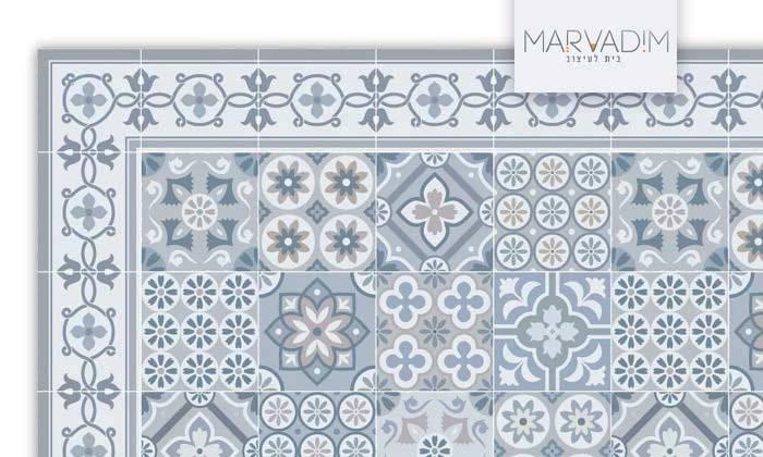 2 שטיח מעוצב לבית עשוי PVC דגם רותם