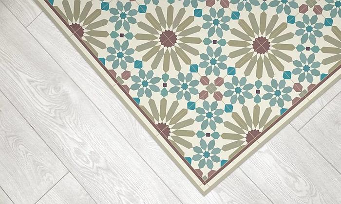 6 שטיח מעוצב לבית עשוי PVC דגם מרקש צבעי אדמה