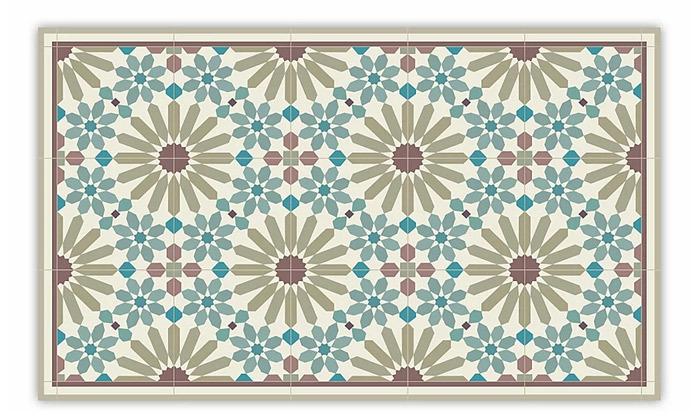 5 שטיח מעוצב לבית עשוי PVC דגם מרקש צבעי אדמה