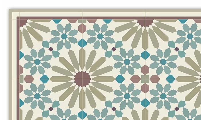3 שטיח מעוצב לבית עשוי PVC דגם מרקש צבעי אדמה