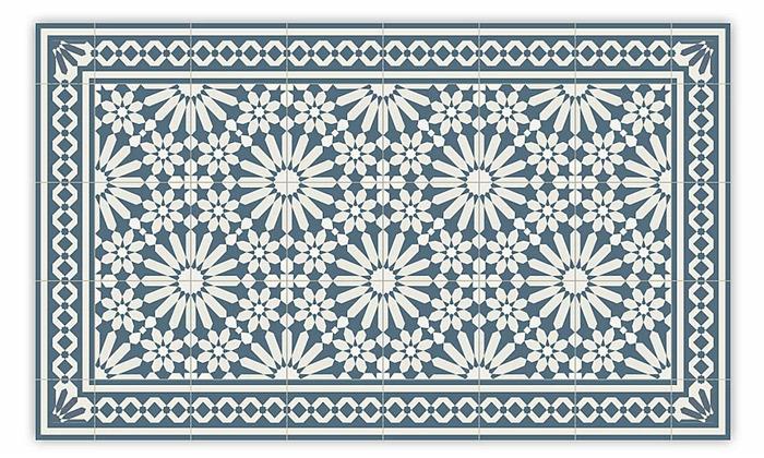 4 שטיח מעוצב לבית עשוי PVC דגם טנג'יר