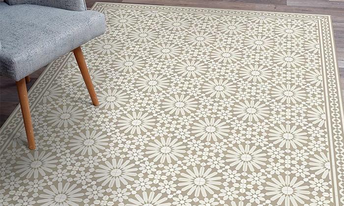 9 שטיח מעוצב לבית עשוי PVC דגם טנג'יר