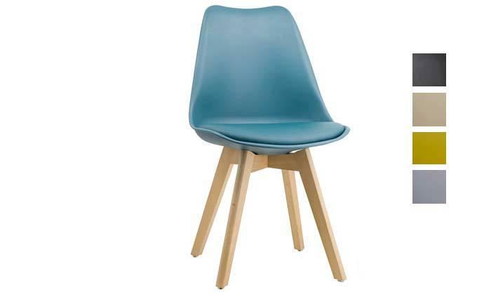 2 כיסא פינת אוכל מרופד