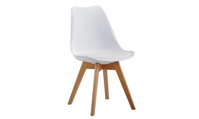 4 כיסא פינת אוכל מרופד