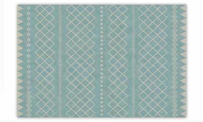 7 שטיח מעוצב לבית עשוי PVC דגם ערבה